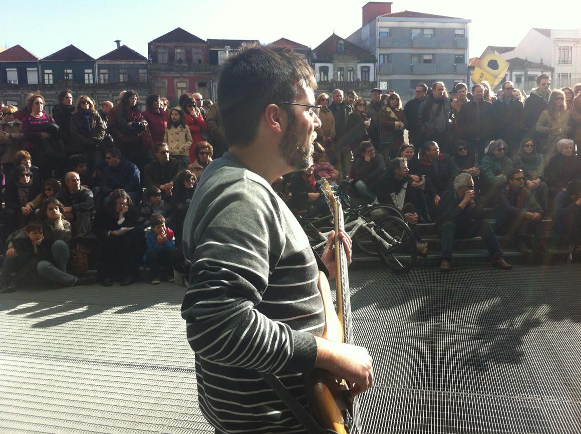 protesto dos trabalhadores da Casa da Música