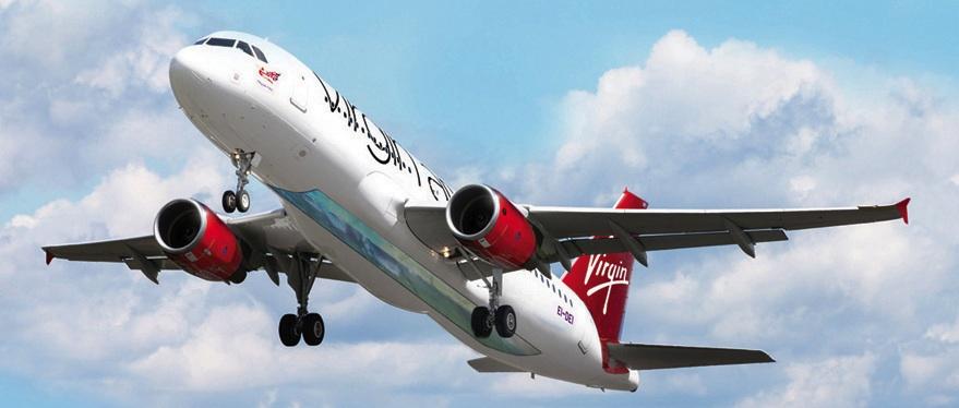 O avião com fundo de vidro da Virgin