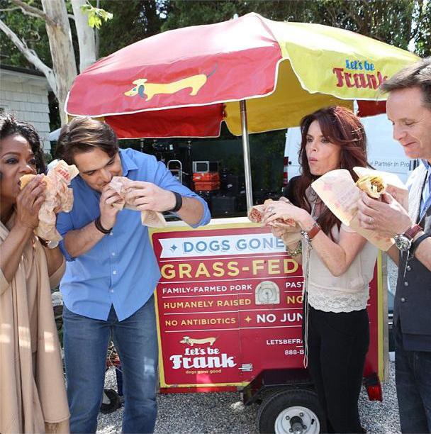 Oprah Winfrey com Diogo Morgado, Roma Downey e Mark Burnett